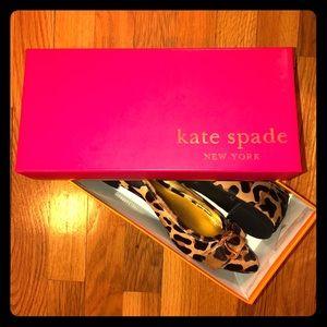 NIB! Kate Spade calfhair leopard print flats, 8.5